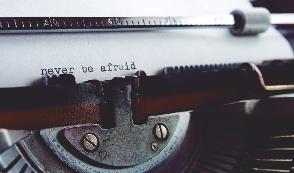 book writing typewriter